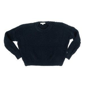 Madewell Sweater Pullover Crew Neck Knitted Black